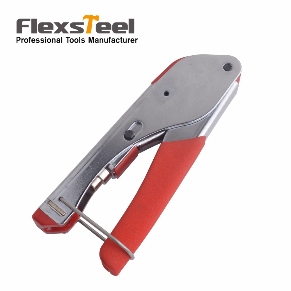 Crimping Tool Coaxial Cable Tool Connector Compression Tool Crimper For Coaxial F Connector RG6 RG59 Cable Alicate Terminador(China (Mainland))