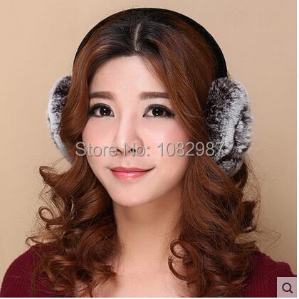 Unisex Rex Rabbit Fur Earmuff Anti Winter Cold Keep Warm Men & Women Fur Thermal Ear Muff Lady & Gentleman Windproof Earwarmer(China (Mainland))