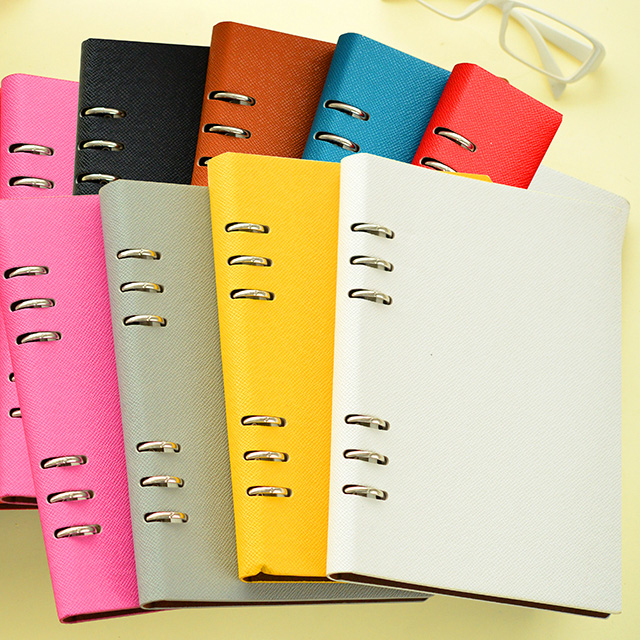 Korean Stationery Candy Color Leather Notebook Personal Diary Spiral School Notebooks<br><br>Aliexpress