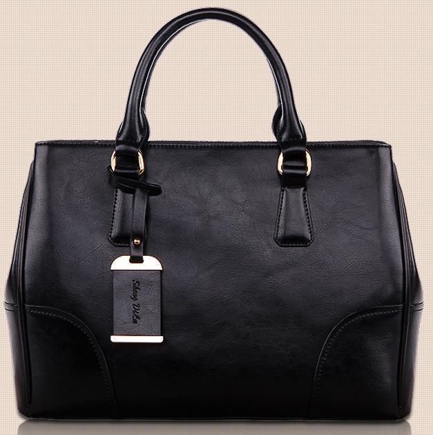 Women Handbags Genuine Leather Tote Solid Satchels Fashion Shoulder Bags Real Leather Messenger Bags Bolsas Feminina(China (Mainland))