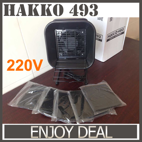 220 V EU Plug Hakko 493 de solda absorvedor de fumaça ESD exaustor com 5 de filtro de carvão ativado(China (Mainland))
