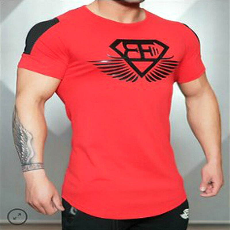 Men Clothing Exercise Fitness Sports Outdoors T-Shirts Mens Gym Workout Bodybuilding Cloth Sport Seamless Training Shirt Top Tee(China (Mainland))