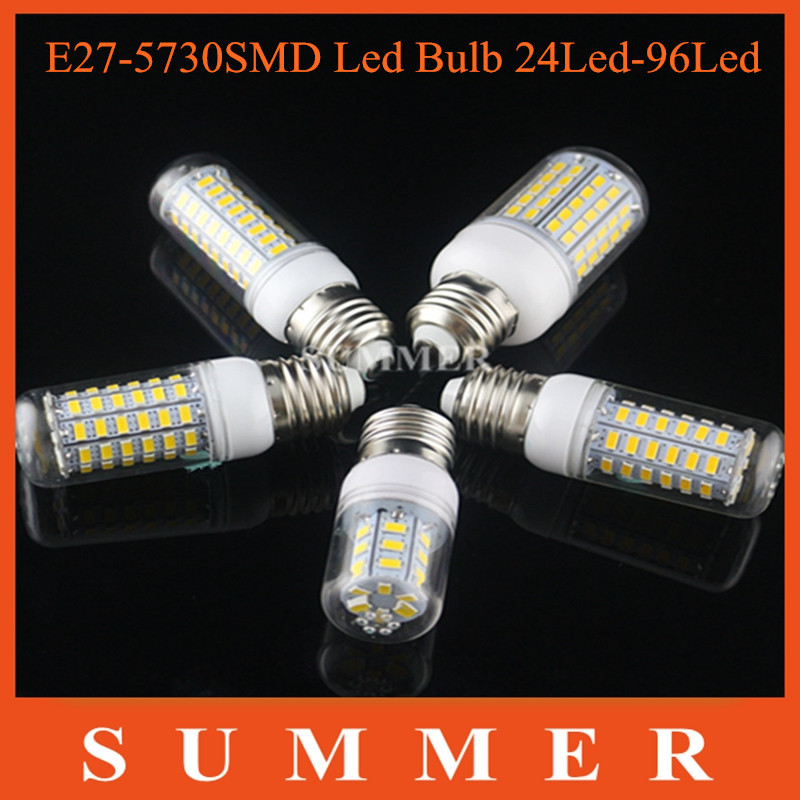 Bombillas LED Bulb E27 SMD 5730 lamparas LED Light 24 36 48 56 69 72 96Leds Lampada LED Lamp E27 220V/110V Ampoule Candle Luz(China (Mainland))