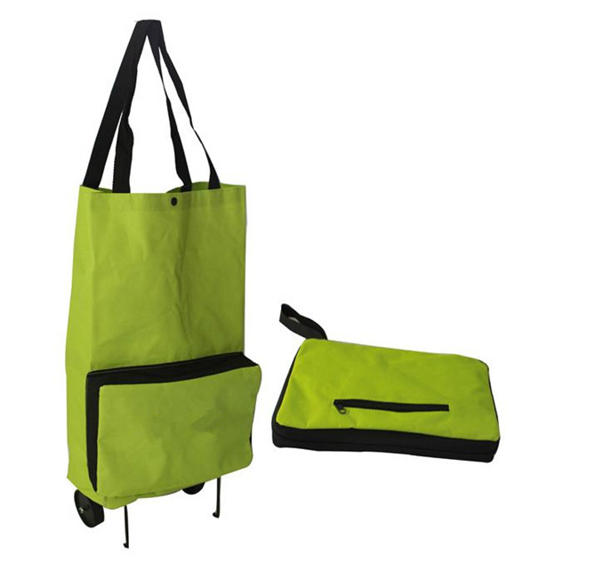 Foldable Dual Wheel Reusable Shopping Bags Oxford Cloth Bag - Shenzhen Small Trading Co., Ltd. store