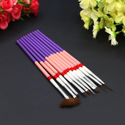 10 Pcs Nail Art Design Gel UV Brush Set Liner pintura Pen Manicure dicas de ferramentas
