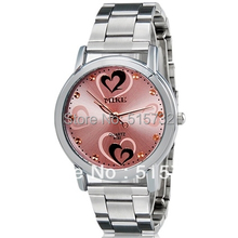 MIKE 8192 women watch Heart Heart Print Women s Analog Watch with Stainless Steel Strap