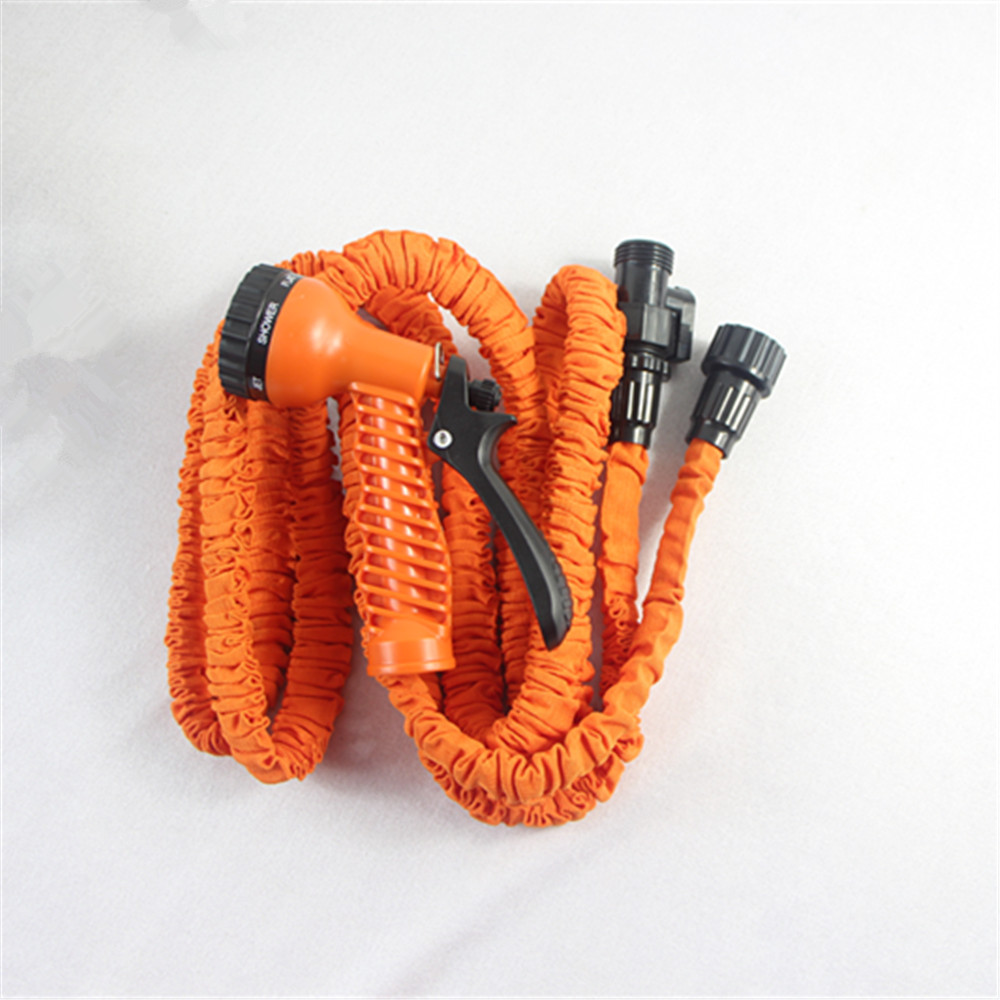 Magic Garden HosePipe with Spray Gun Flexible Water Hose Nozzle Hose Retractable Water Pipe Plastic Connector 2016 Free Shipping(China (Mainland))