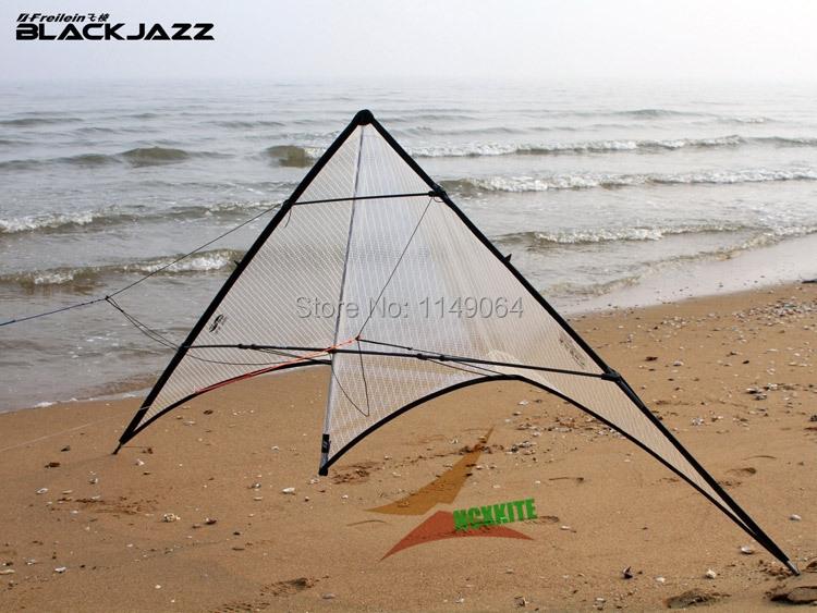 freeshipping high quality blackjazz stunt kite rolling dancing power kites flying Polyester ripstop kitesurf outdoor toys hcx(China (Mainland))