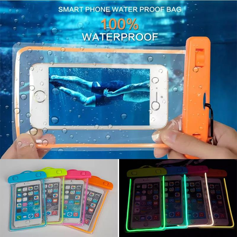 Waterproof bag With Luminous Underwater Pouch Dirt Proof Durable Case Cover For iphone 5 5S SE 6 6s Plus For Samsung S7 S7 edge(China (Mainland))