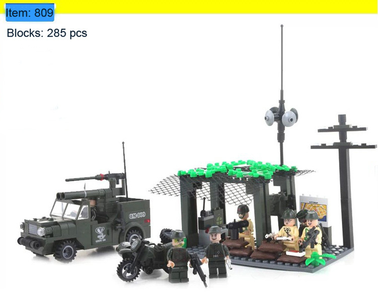 Enlighten Building Blocks Jeep Defensive Station Combat Zones Mode Kits Hot Toy Boy Lego Compatible Christmas Gift - C&T Toys store