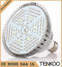 1pcs Full Spectrum Led Grow Light E27 30W 50W 80W Led Growing Lamp for Flower Plant Hydroponics System aquarium Led lighting(China (Mainland))