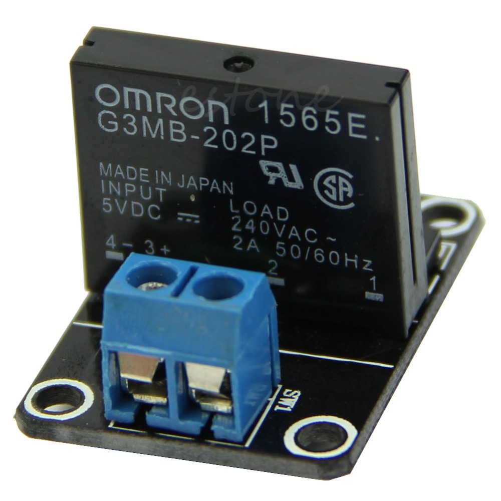 Free shipping 5V 1 Channel OMRON SSR High Level Solid State Relay Module 250V 2A For