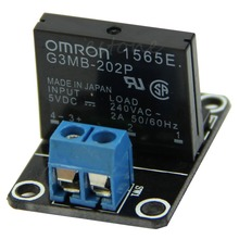 Free shipping 5V 1 Channel OMRON SSR High Level Solid State Relay Module 250V 2A For Arduino