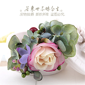 2014 Handmade forest department berry rose cute hairpin girl bridal hair accessories hairpin clip(China (Mainland))