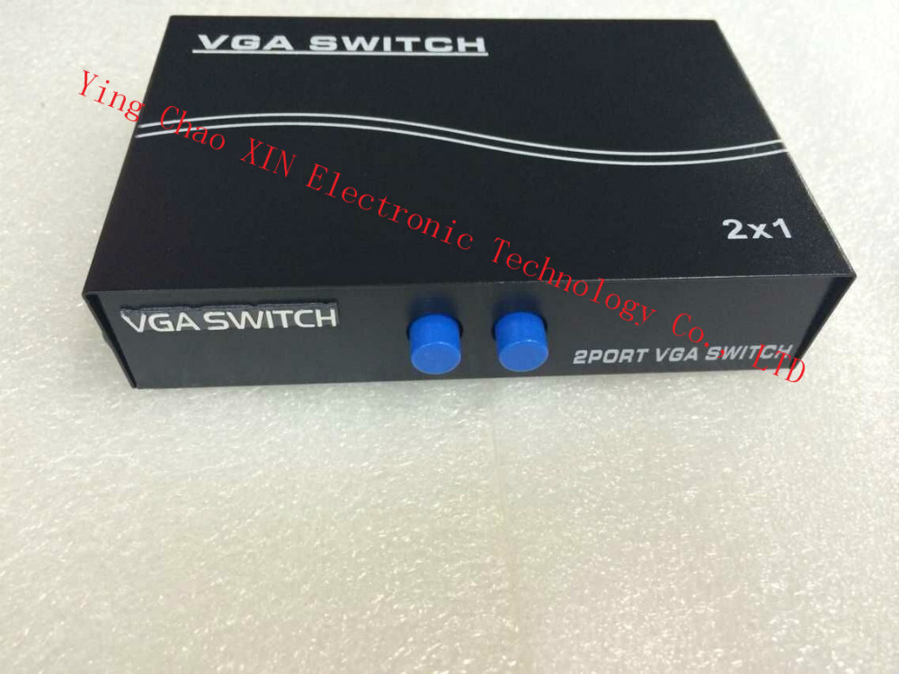 VGA video distributor one point two one with two split screen computer VGA Switcher sharing vga switch Free Shipping(China (Mainland))