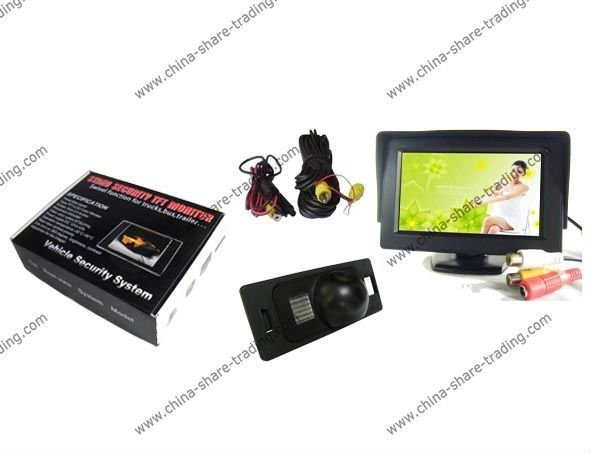 Free Shipping Rearview Camera for AUDI A4L/TT/A5/Q5 Reverse Camera Kit 4.3 inch LCD TFT Rearview Monitor SS-643