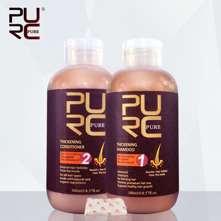 PURC Hair care products for hair loss thickening hair shampoo and hair conditioner for hair loss prevents premature hair loss