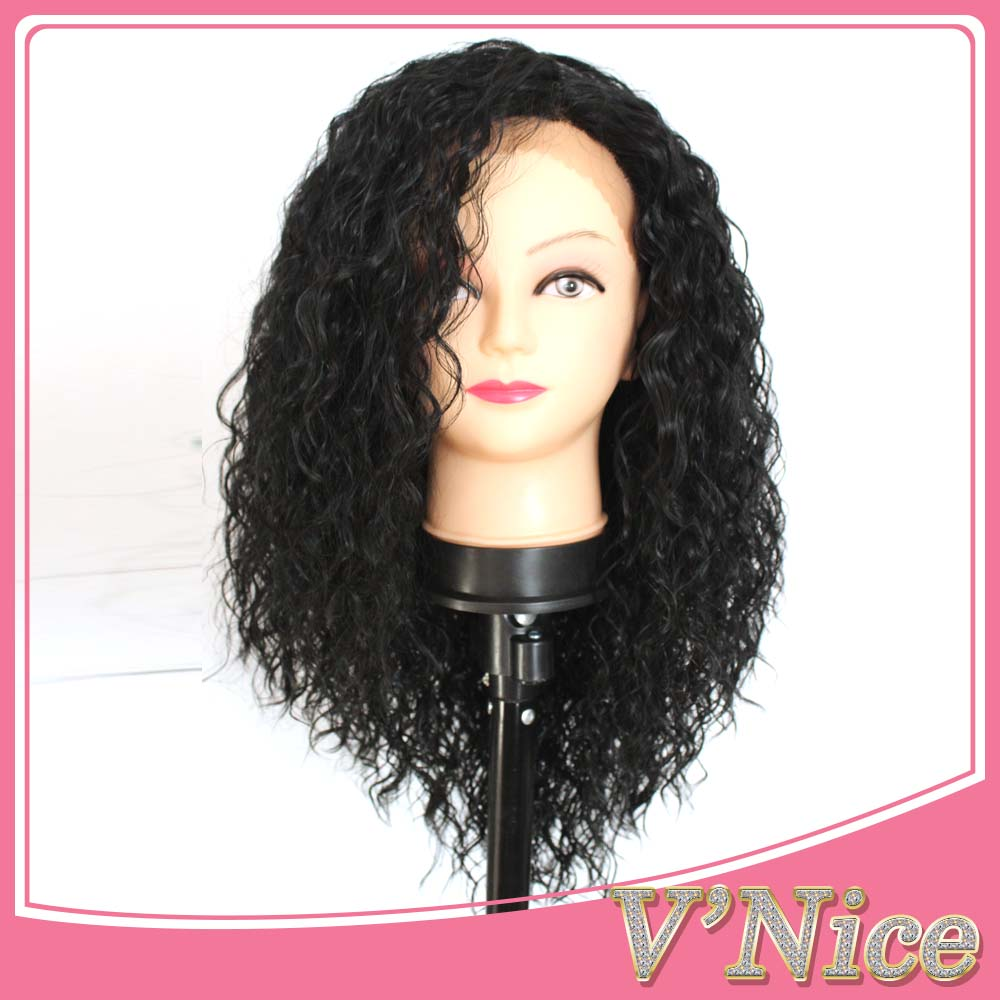 Cheap Glueless Synthetic Lace Front Wigs Water Curly Best Heat Resistant Fiber Synthetic Lace Front Wigs For Black Women