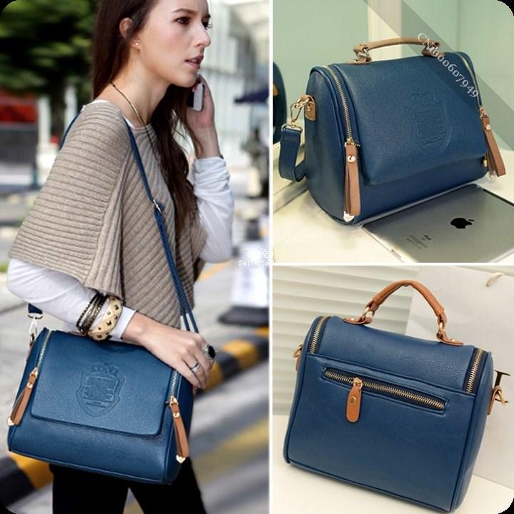 Women Handbag Cross Body Shoulder Bag Messenger Bag Tote Bag Blue(China (Mainland))