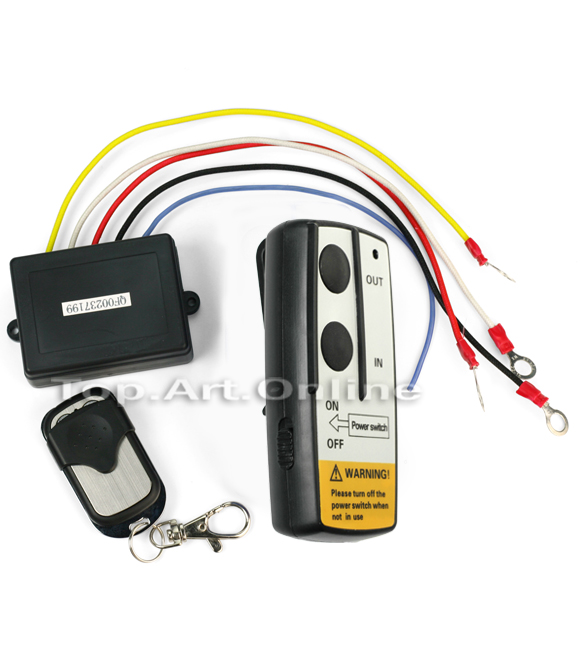 New 12V 12 Volt Wireless Remote Control Kit for Truck Jeep ATV Winch Warn Ramsey(China (Mainland))