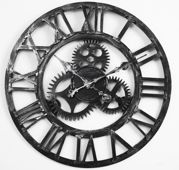 gears wall clock circle gear wall clock white roman gear wall with oversized vintage wall clock