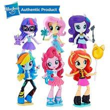 Hasbro My Little Pony Equestria Meninas 4.5-Polegada Mini-Action Figure Coleção Modelo Boneca Bonecas Personagem II Ast para a Menina(China)