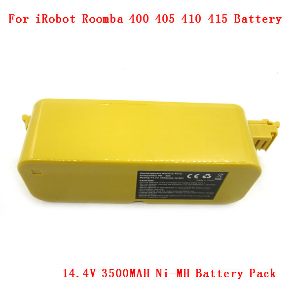 14.4V 3500MAH Ni-MH Battery Pack For iRobot Roomba 400 405 410 415 416 418 Series 4000 4100 4105 4110 sweden post Free shipping(China (Mainland))