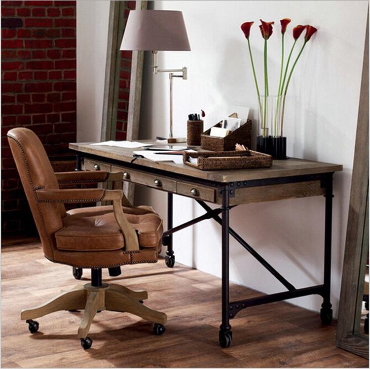 online kaufen gro handel eisen schreibtisch aus china. Black Bedroom Furniture Sets. Home Design Ideas