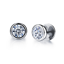 Vintage elegant circle zircon all-match accounterment male stud earring small accessories n325(China (Mainland))