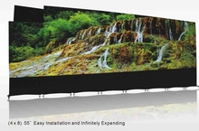 4k plus Full HD 0 mm bezel Spliced lcd video wall 4x8 lg panel 55'' easier installation LCD video wall(China (Mainland))