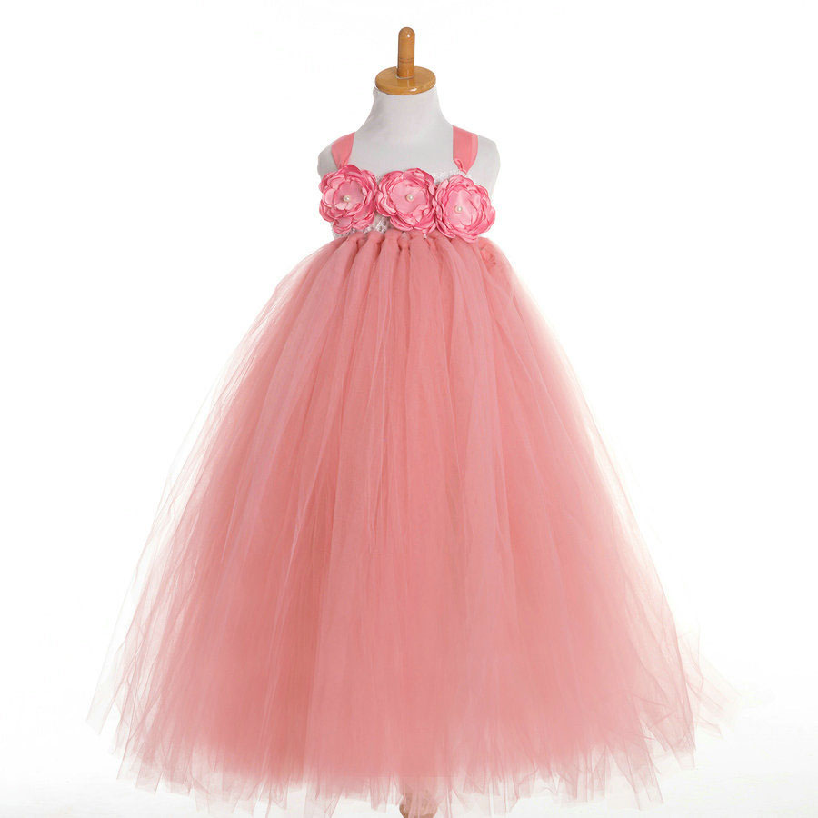 Popular handmade tutu flower girl dresses buy cheap for Designer brand wedding dresses