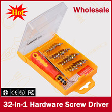 2015 nuevo 32 pulgadas de 1 Unidades Micro de bolsillo Kit de destornilladores de precisión destornillador magnético del teléfono celular caja de herramienta de reparación