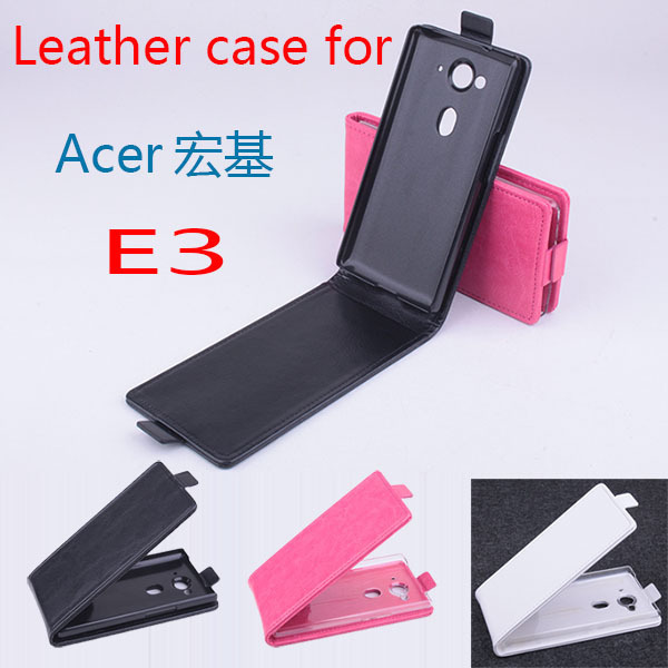 For acer E3 leather case android phone flip case Good quality in stock Free shipping