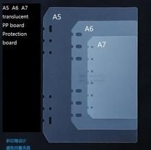 Pvc recibe el bolso del almacenaje bolso de la tarjeta para B5 A5 A6 A7spiral cuaderno de hojas sueltas diario bobina binder relleno de papel seperate planificador(China (Mainland))