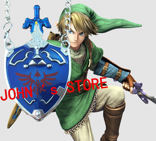 Freeshipping 20pc a lot The Legend of Zelda Shield sword Necklace XQDWN01<br><br>Aliexpress
