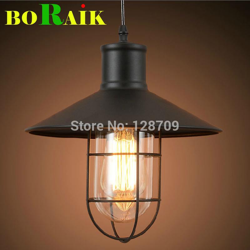 Loft Black Pendant Lights Retro Industry Vintage Pendant Lamps for Warehouse/Restaurant Home Decor Lighting E27 220V Glassshade(China (Mainland))