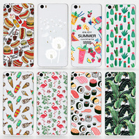 TPU Soft Cases For Xiaomi Mi5 Transparent Printing Drawing Ultra-Thin Silicone TPU Phone Cover For Xiaomi 5 M5