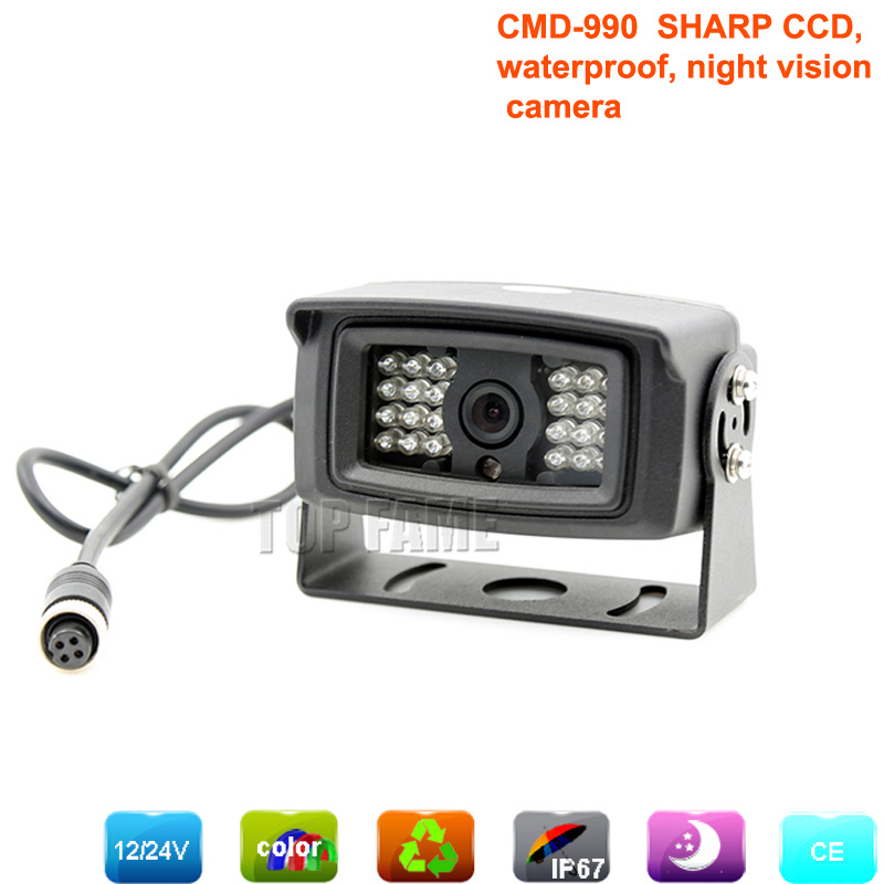 sharp CCD car/bus/vans /trucks rear view camera with night vision waterproof camera for auto parking monitoring assistance(China (Mainland))