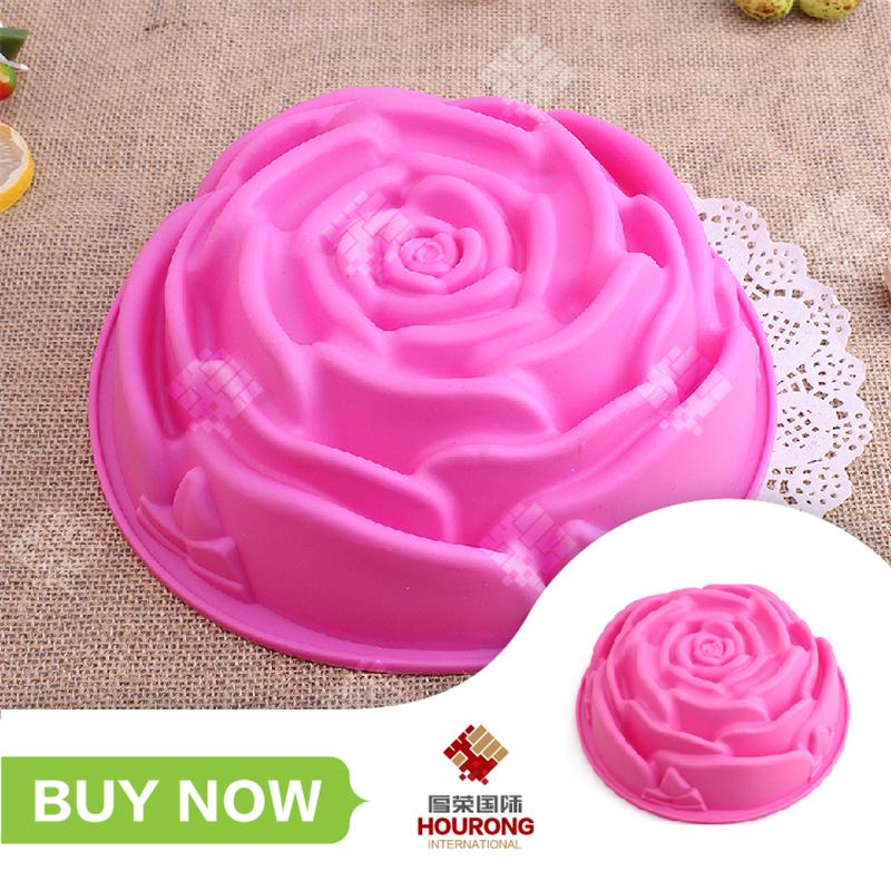 1 pcs Big Size Flowers Shape Cake Mold Silicone Single Flower Cake Pan Fondant Silicone Molds For Cake Decorating DIY Mold(China (Mainland))