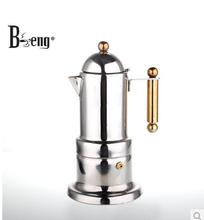 Кофейник итальянский кофе горшок высокое качество толщиной в нижней части можно поставить на яйцеварок кук 4 порции кофейник ( BV-400 )