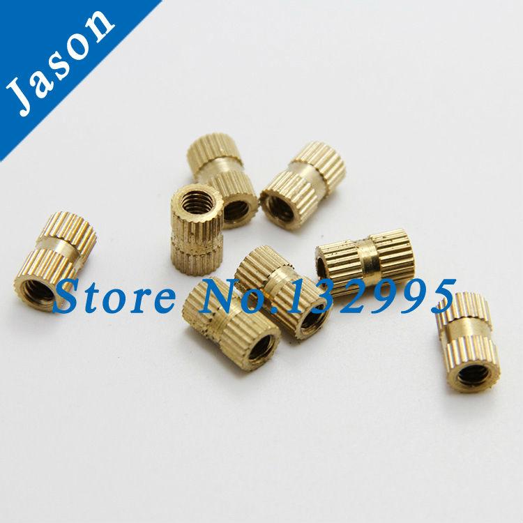 M4*8 (OD=6)  Brass Knurl Nuts Brass Insert Nut,Thumb Brass Knurled Round Nut Injection Moulding<br><br>Aliexpress