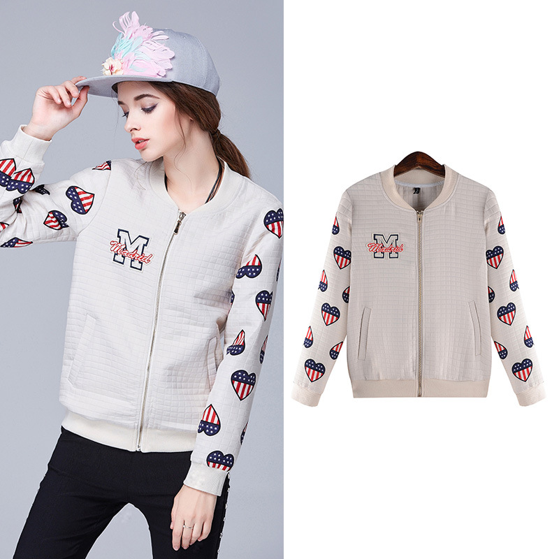 Europe style 2016 high quality Hitz large size women thin printing coat baseball clothes XL~5XLОдежда и ак�е��уары<br><br><br>Aliexpress