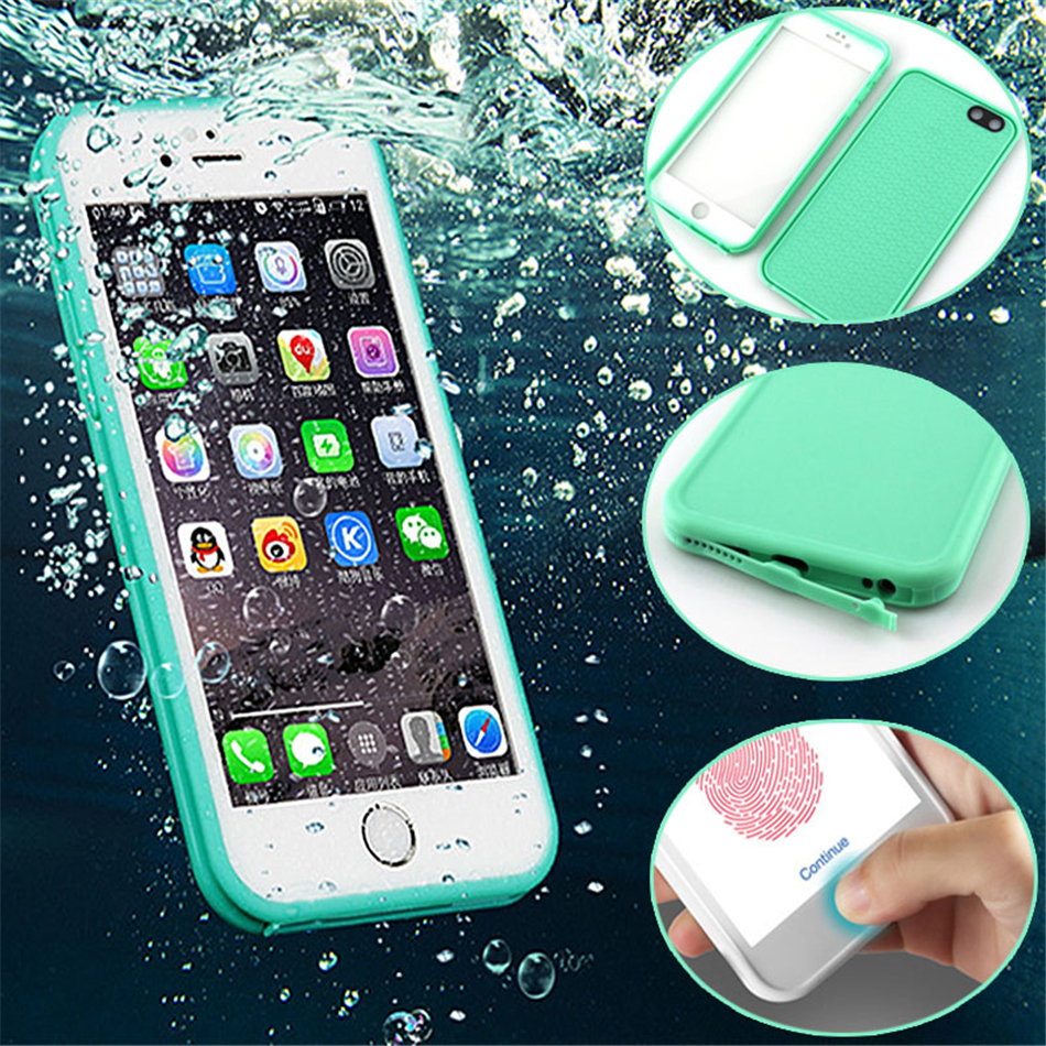 Fashion waterproof dustproof anti-oil Touch Screen Flip TPU phone Case for iPhone5 5S 6 6S / 6 plus / 7 plus back cover(China (Mainland))
