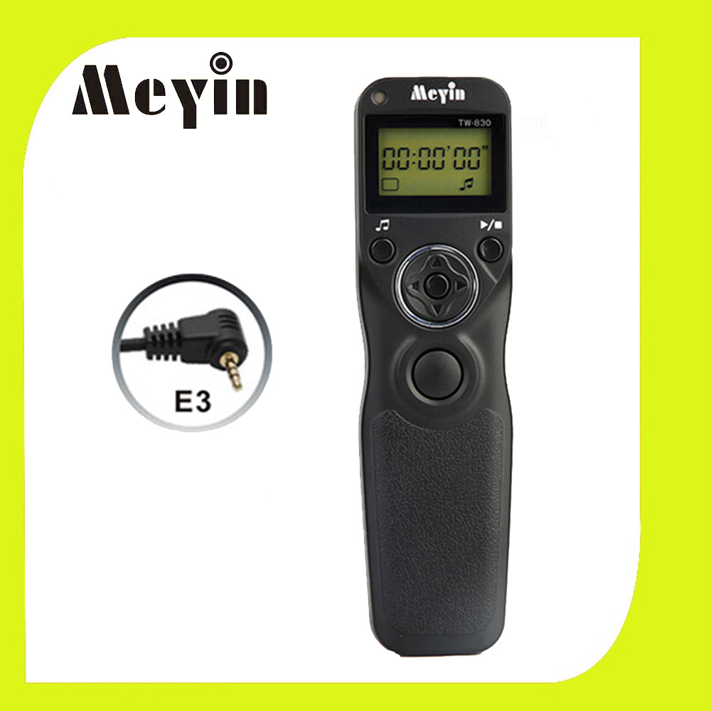 MEYIN TW-830 E3 TW-830/E3 Shutter Release Cable Timer Remote Control for Canon PowerShot G10 700D 550D Pentax Samsung Contax(China (Mainland))