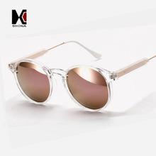 SHAUNA Round Sunglasses Brand Designer Women Keyhole Sun Glasses Transparent Frame Men Eyewear Mirror Lens Coating Gafas UV400(China (Mainland))