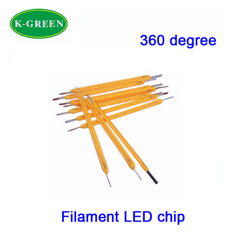 50X 360 degree LED filament light source high voltage 75V low current 10mA CRI >80 for DIY LED lighting project free shipping(China (Mainland))