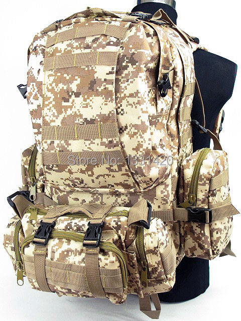 CAMELPACK TACTICAL MOLLE ASSAULT BACKPACK DIGITAL DESERT CAMO hiking backpack<br><br>Aliexpress