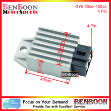 GY6 50cc 150cc VOLTAGE REGULATOR RECTIFIER 4 PIN 4T Chinese Scooter Parts ATV Znen Baotian Taotao Icebear Romet Free Shipping