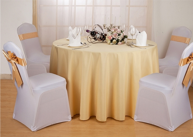 Cream 120 round table cloth polyester table cover for for 120 round table cover