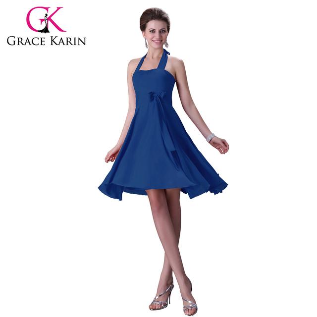 Грейс карин холтер-линии короткие голубые красный розовый фиолетовый платья для подружек ...